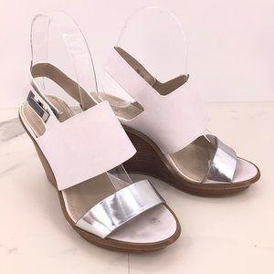 Calvin Klein Perdita white silver wedge sandal